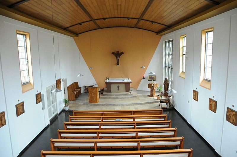 Blick von oben in den Kirchenraum